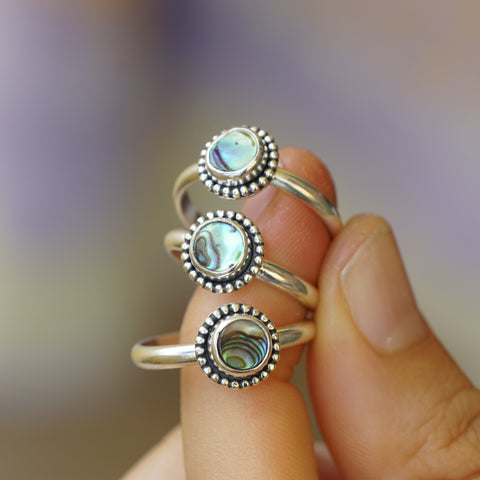 Crown Bead Stack Ring