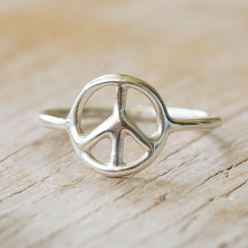 Peace Ring Sterling Silver