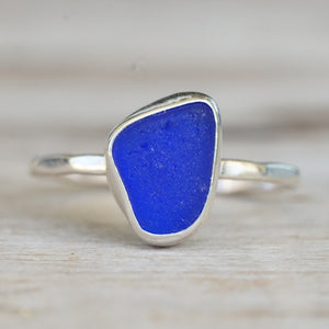 Cobalt Sea Glass Ring 6