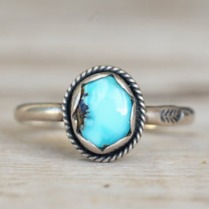 Lone Mountain turquoise ring 8.5