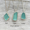 Cornflower Blue Sea Glass and Twist Necklace 18""