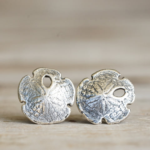 Sand dollar stud earrings