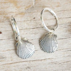Sea shell hoop earrings