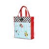 Racing Car Tote Bag- Scarlet/Black&White Square/Raceway