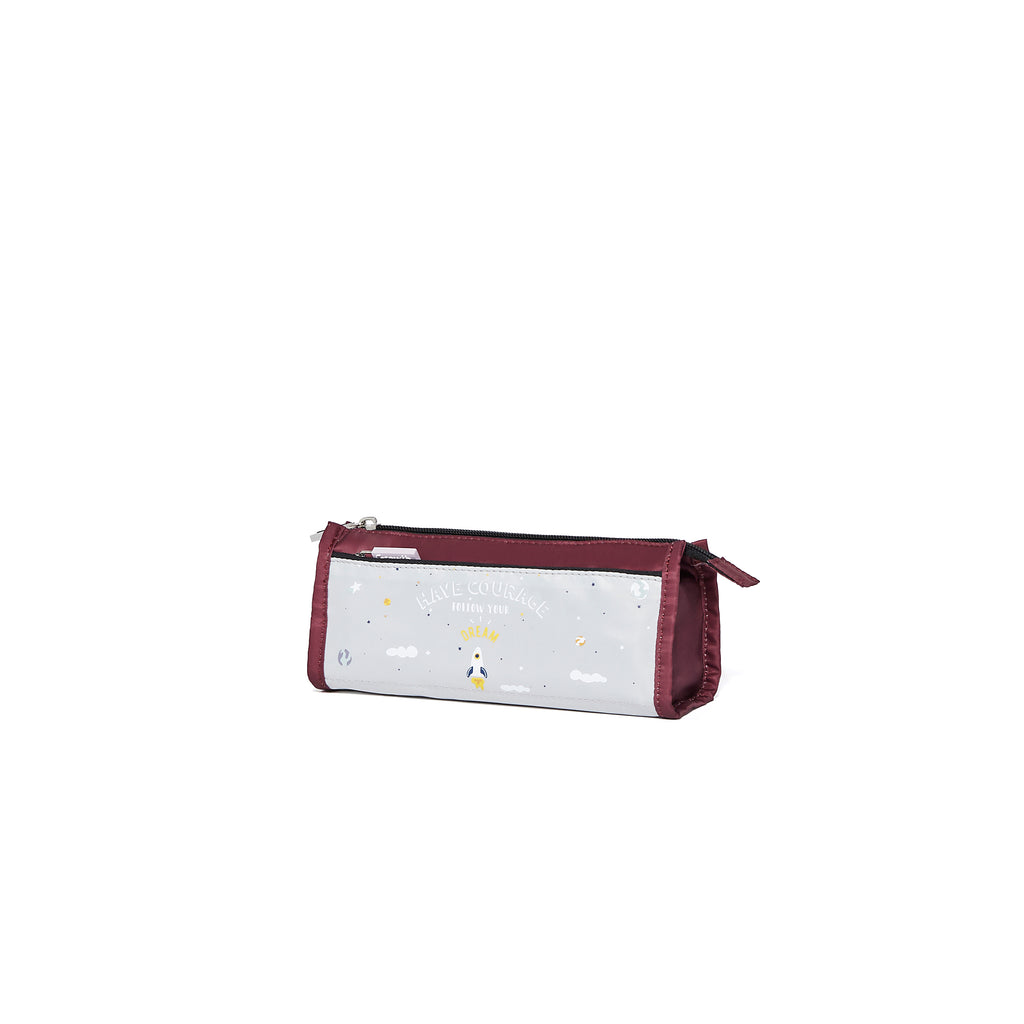 Brilliant Pencil Case- Burgundy/ Vapor Blue