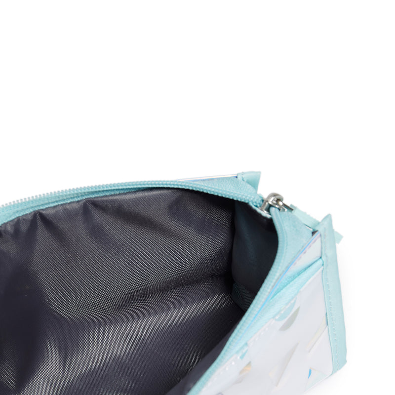 Fantasy Pencil Case- Bleached Aqua/Holographic