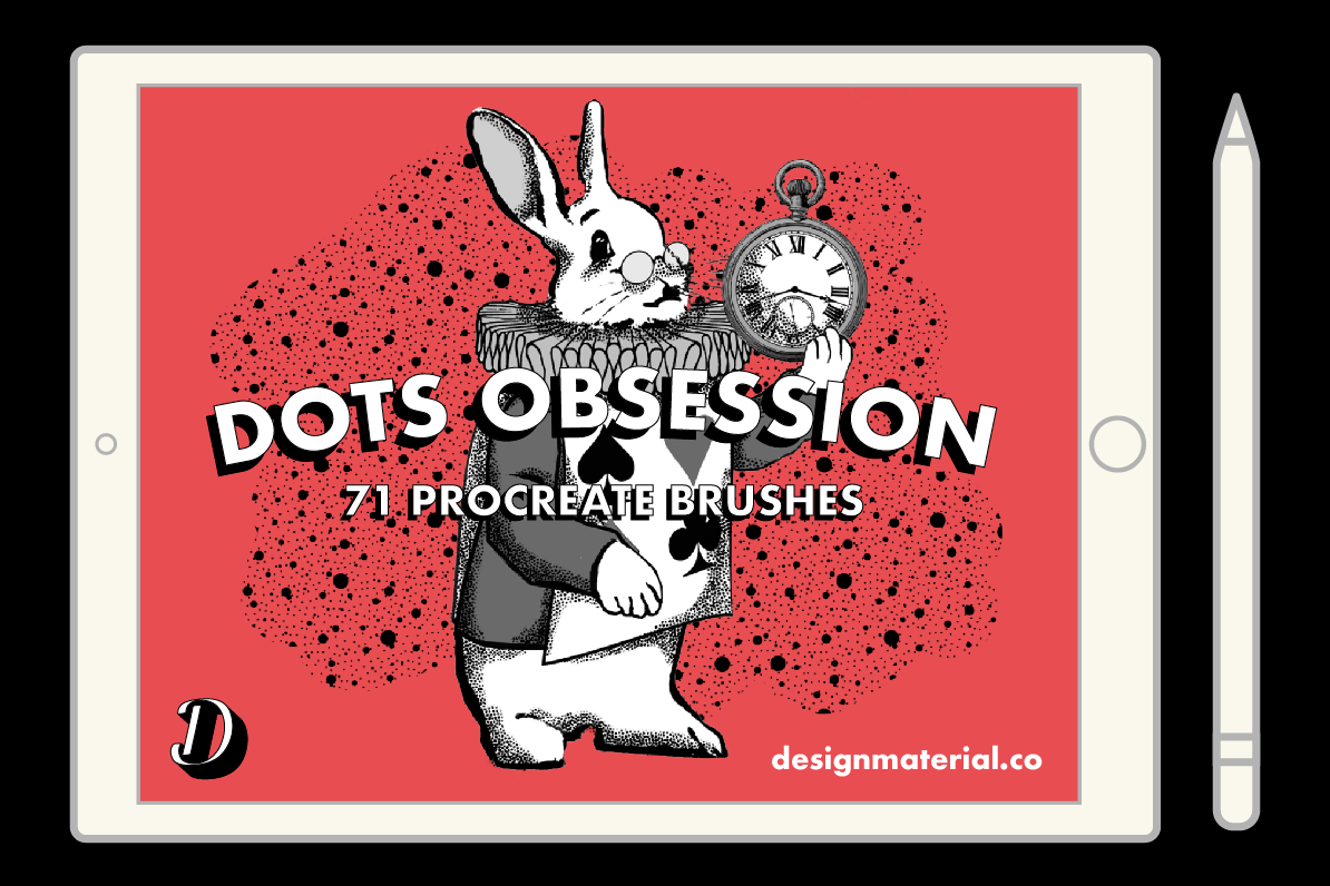 DOTS OBSESSION PROCREATE BRUSHES PACK