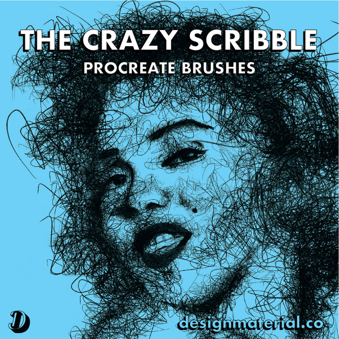 The Crazy Scribble Procreate Brushes Pack