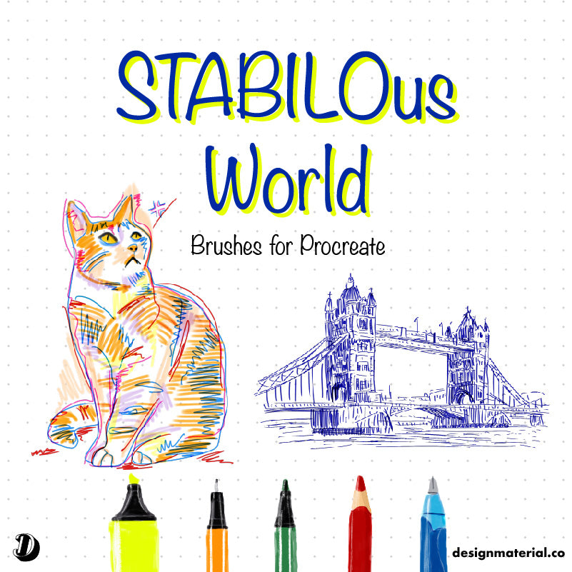 STABILOus World Procreate Brushes Pack