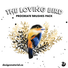 Load image into Gallery viewer, The Loving Bird Procreate Brushes Pack