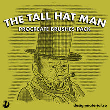 Load image into Gallery viewer, The Tall Hat Man Procreate Brushes Pack