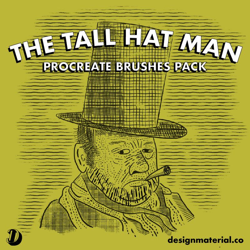 The Tall Hat Man Procreate Brushes Pack