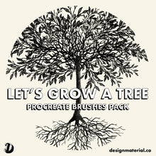 Load image into Gallery viewer, Let's Grow A Tree Procreate Brushes Pack