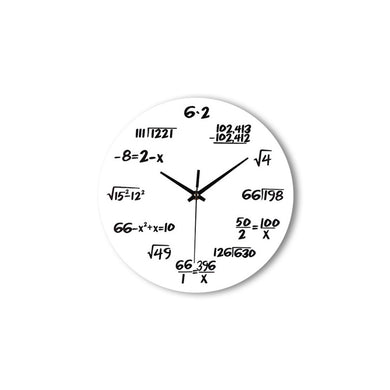 Creative Mathematical Formula Wall Clock Quartz Clock Home Decor Teacher Gift for Classroom Home Office