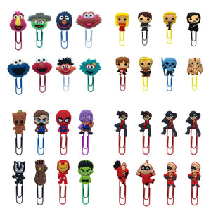 8Pcs Cartoon Sesame Street Bookmark Book Incredibles Souvenir School Supplies Paper Clip DIY Decoration Teacher Gifts