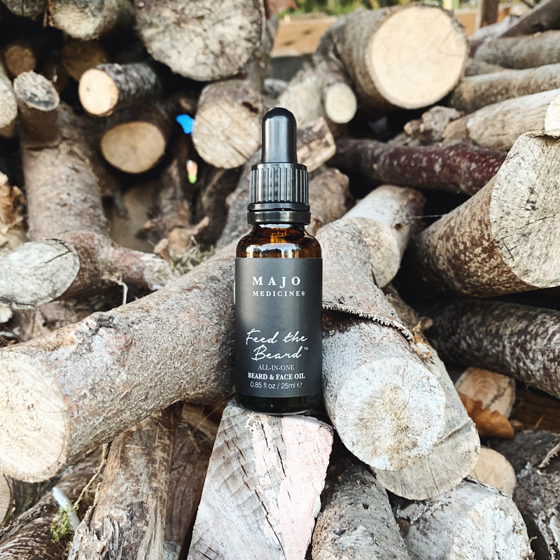Majo Medicine Feed The Beard Face and Hair Oil Organic Vegan ALL-IN-ONE