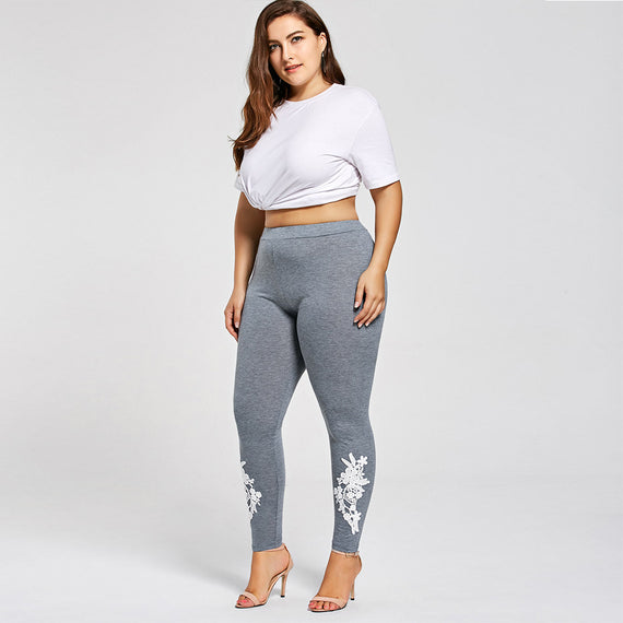 Leggings brodé