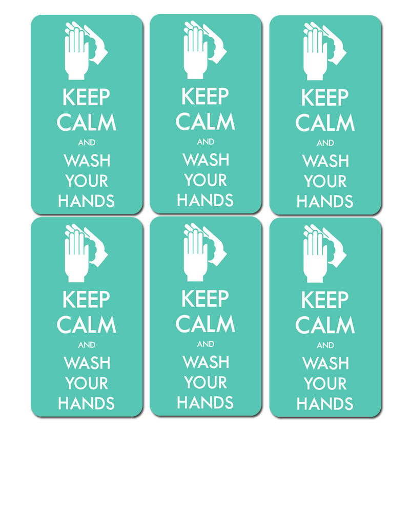 "Aufkleber ""Keep Calm"" - Mint"