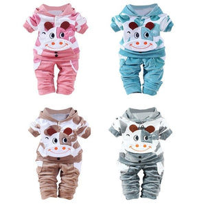 Lovely Newborn Baby Girls Boys Cartoon style  Cow