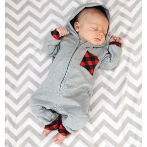 Newborn Infant Baby Boy Girl Plaid