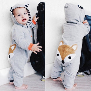 Newborn Kid Baby clothes Stripe animal lovely Fox