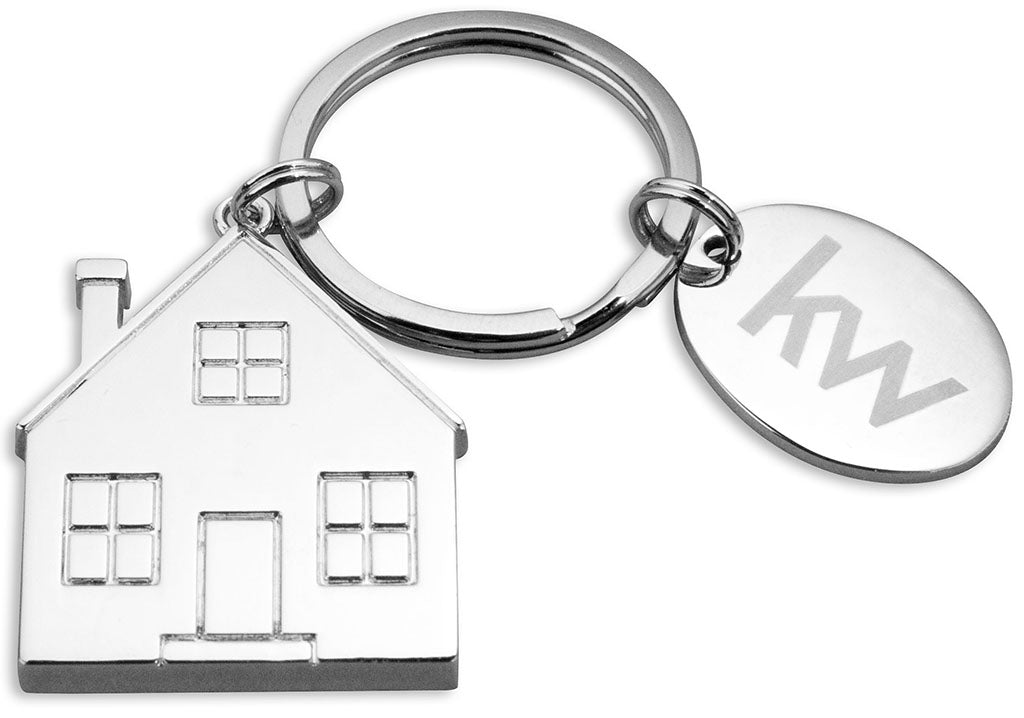 KW Nickel House Key Ring
