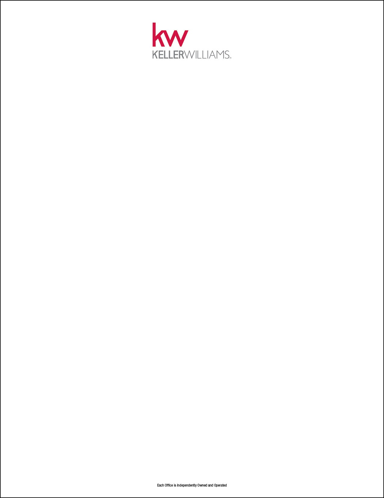 Keller Williams Letterhead