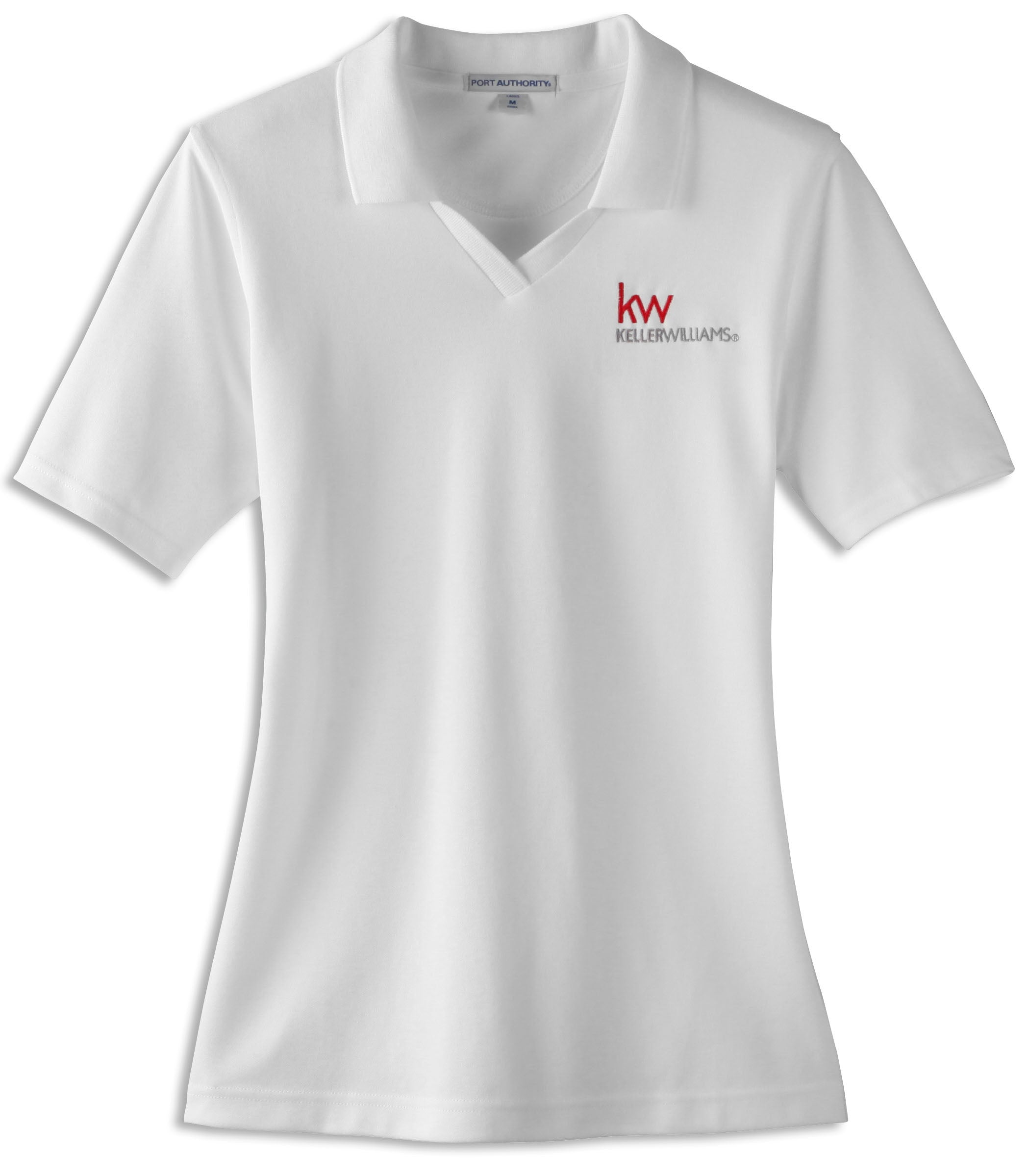 white port authority polo with Keller Williams embroidery