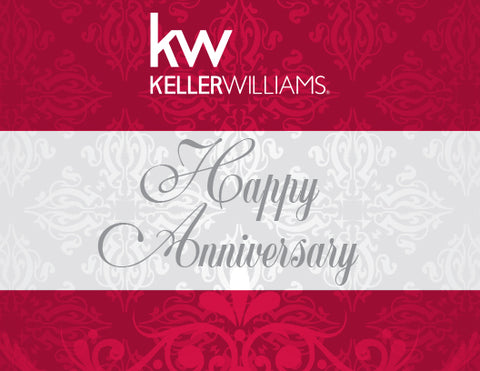 KW Anniversary Greeting Card - Red (With Envelopes)