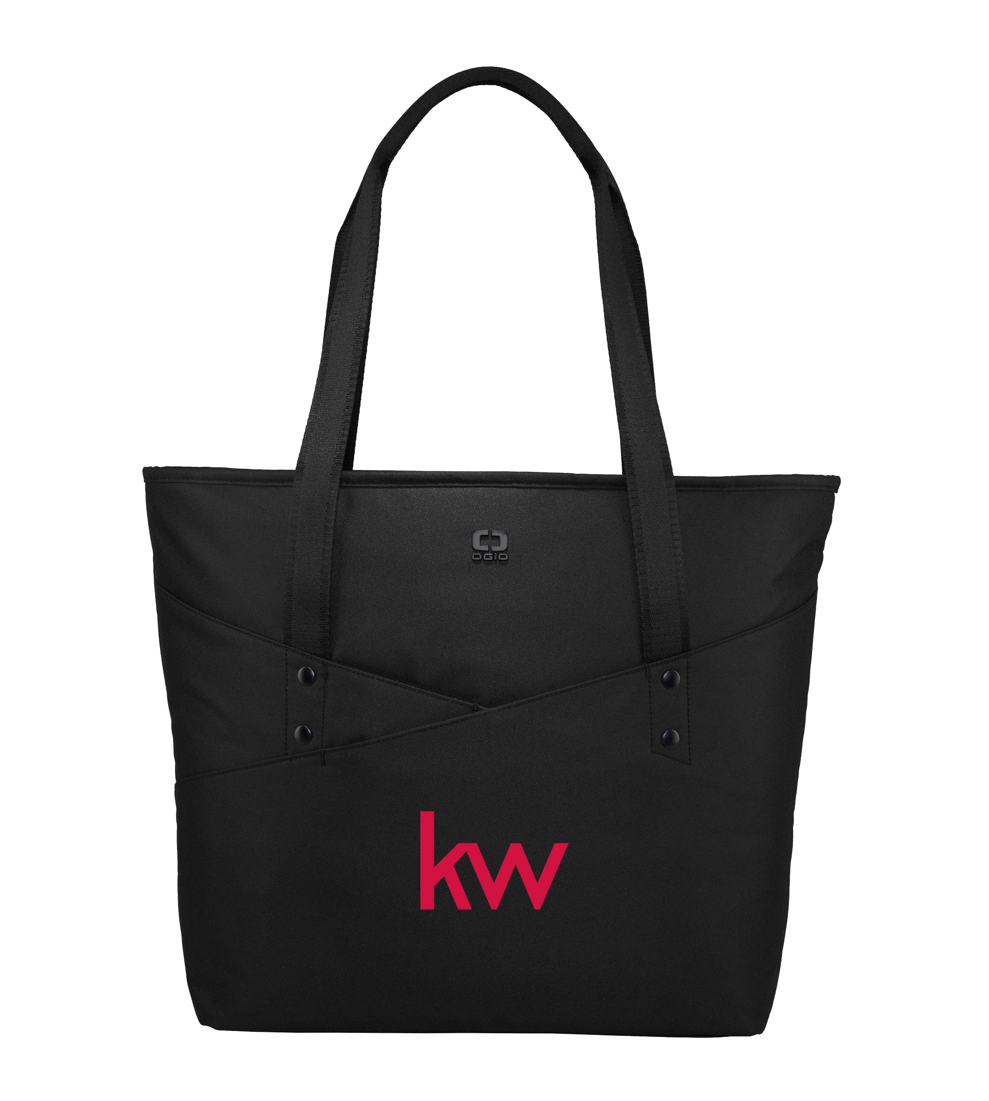 black OGIO tote with front pocket and Keller Williams logo in red embroidery