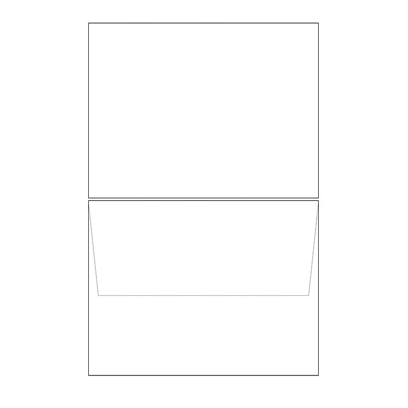 blank white a2 notecard envelopes