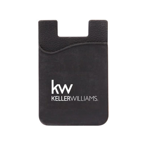 black card pocket or wallet with white Keller Williams logo