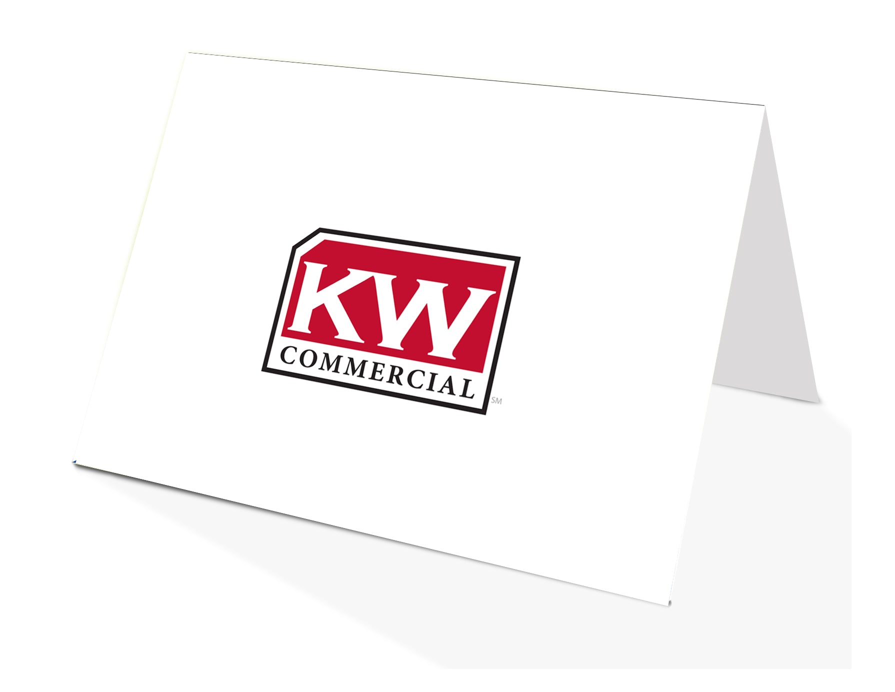 White KW Commercial Notecards folded