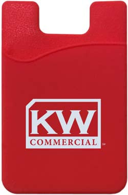 red phone card pocket or wallet with Keller Williams commercial logo in white
