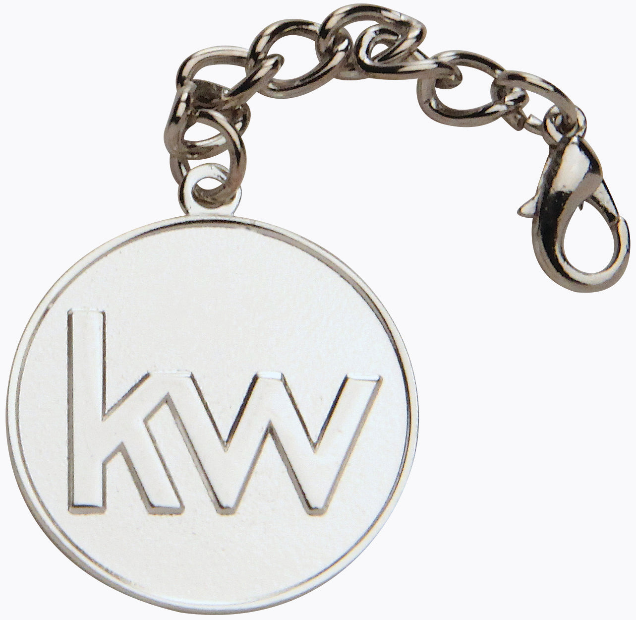Silver KW Purse Medallions