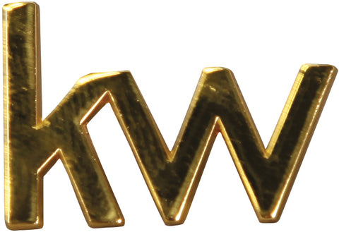 gold keller williams informal logo lapel pin