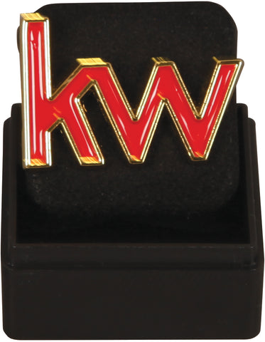 KW Die Cut Lapel Pin - Red