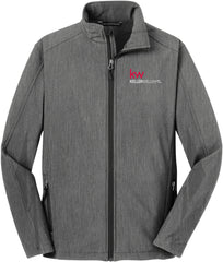 grey full zip jacket with Keller Williams logo in red and white