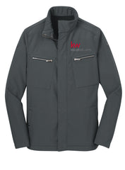 grey full zip jacket with two zippered pockets and the Keller Williams logo
