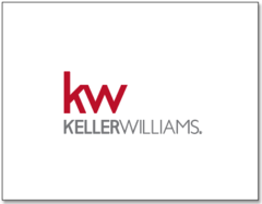 white notecard with the Keller Williams logo centered