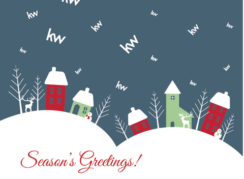 Seasons Greetings KW Greeting Card