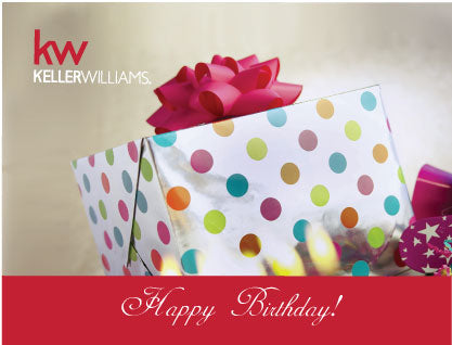 KW Happy Birthday Card - Gift (With Envelopes)