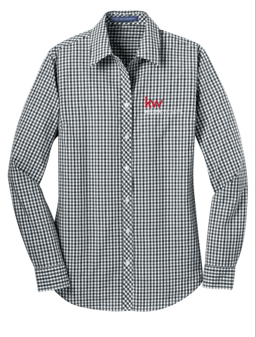 Women's Plaid KW Button Down Shirts