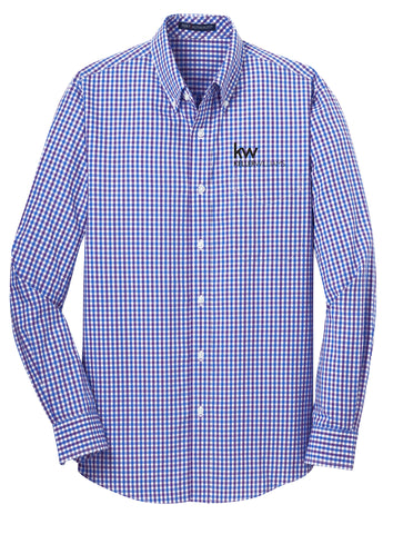 Men's Plaid KW Button Down Shirts