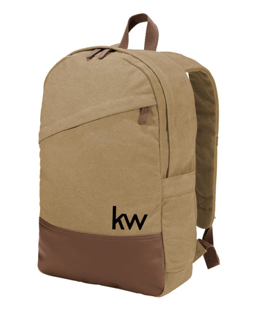 KW Cotton Canvas Backpack