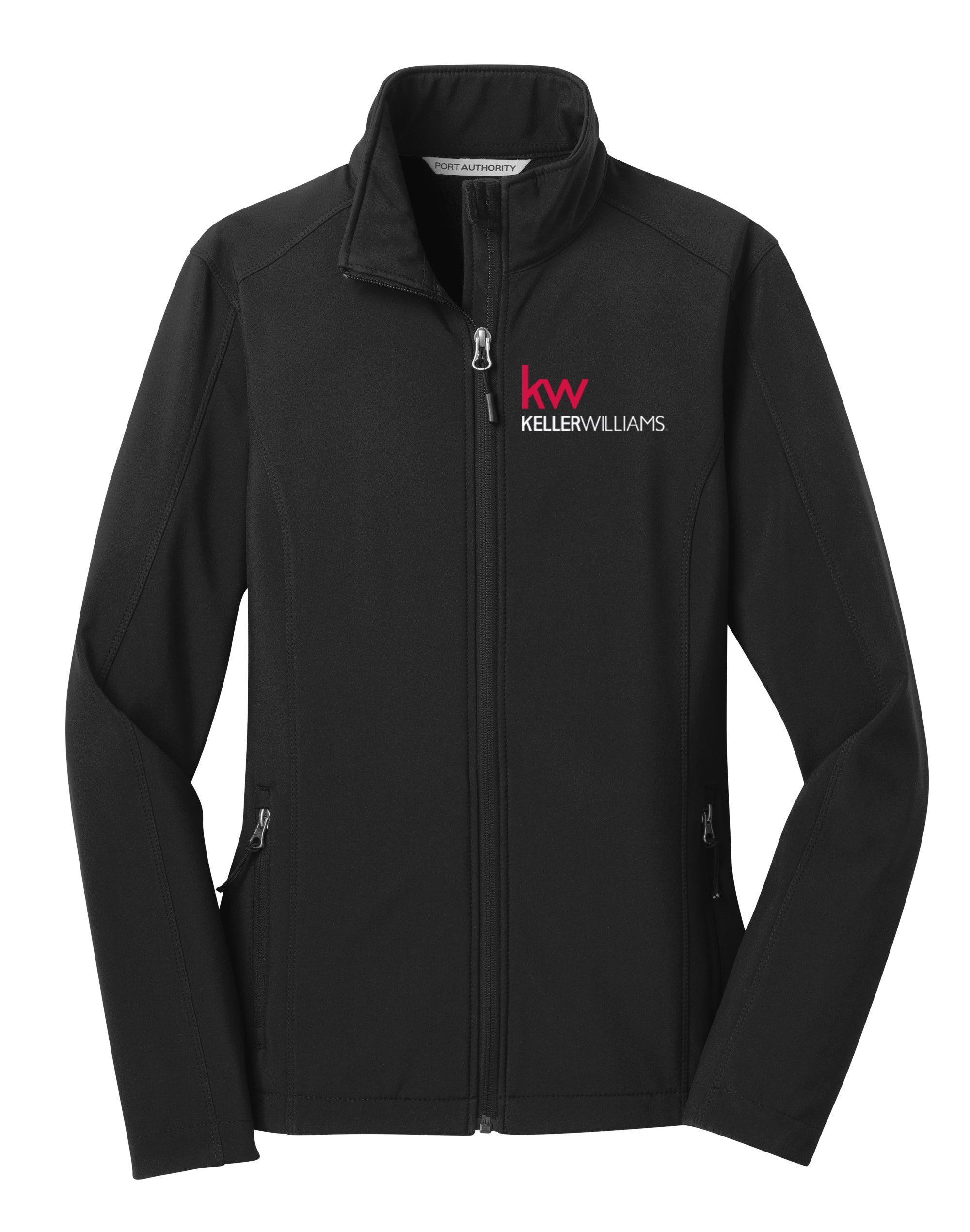 black full zip jacket with Keller Williams logo in embroidery