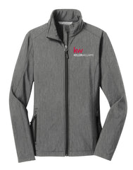 grey full zip jacket with Keller Williams logo in embroidery
