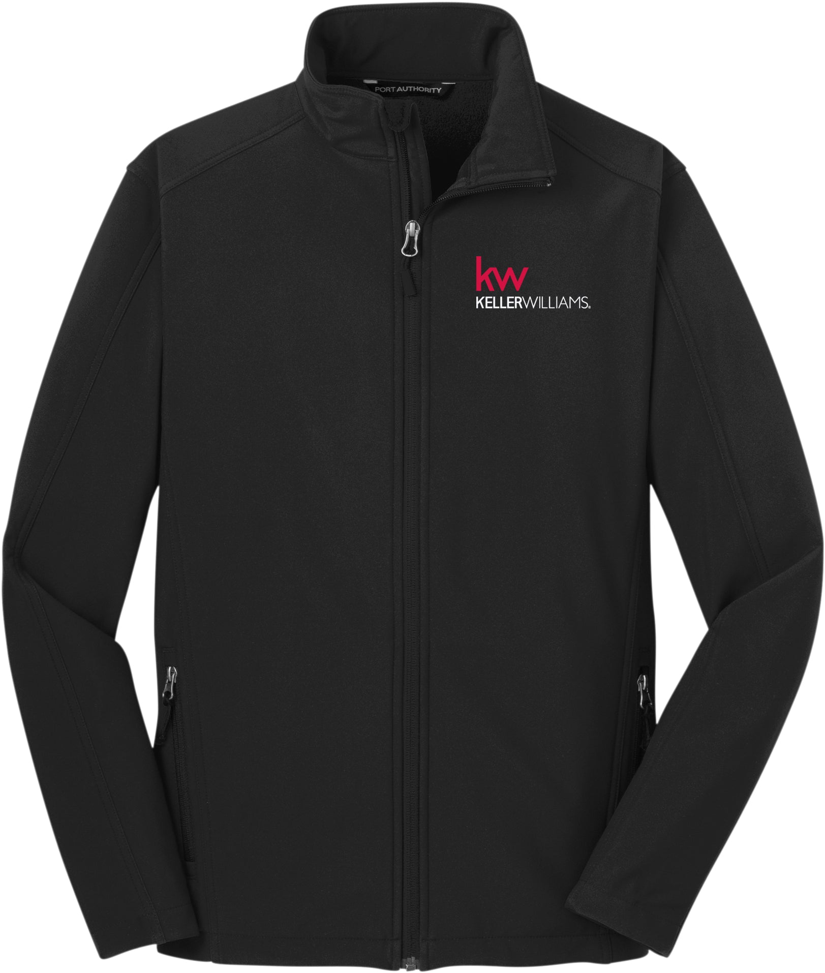 black full zip jacket with Keller Williams logo in red and white