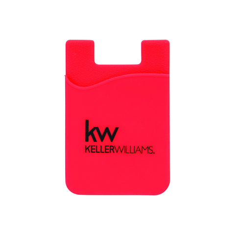 red card pocket or wallet with black Keller Williams logo