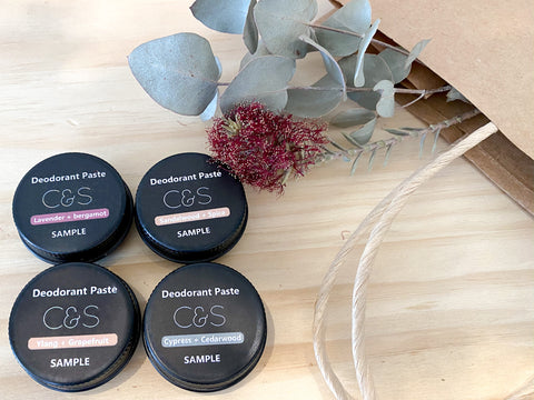 Deodorant Paste - Sample Pack 1 - Cedar & Sage Organics